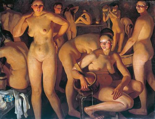 Моются женщины в общественной в бане фото 191-111
