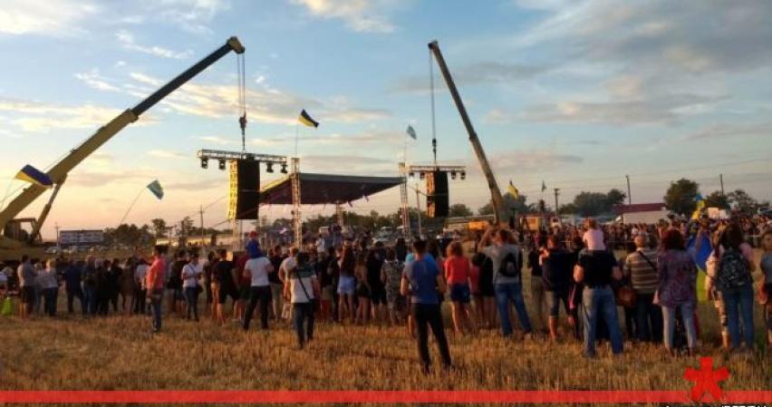 Украинские артисты пофестивалят на границе с Крымом, ЛНР и ДНР