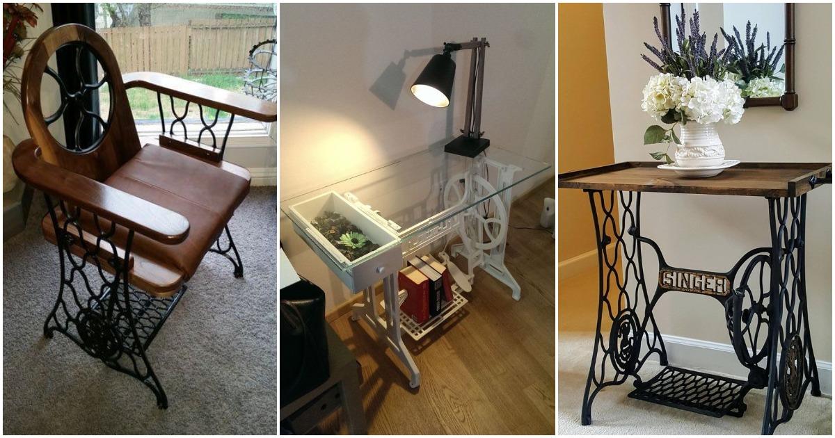 Новая жизнь старинной швейной машинки: идеи переделок