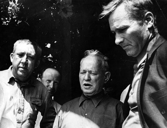 История редкого фото: М. Шолохов, В. Шукшин и Ю. Никулин, 10 июня 1974 года, Вешенская