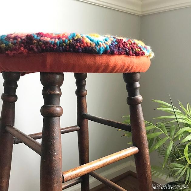 Сидушка для стула, в технике ковровая вышивка (7) (630x630, 293Kb)