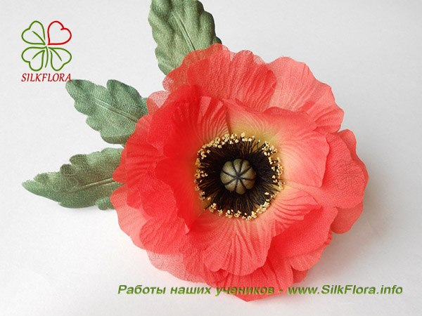 Где научиться делать цветы из шелка не выходя из дома?