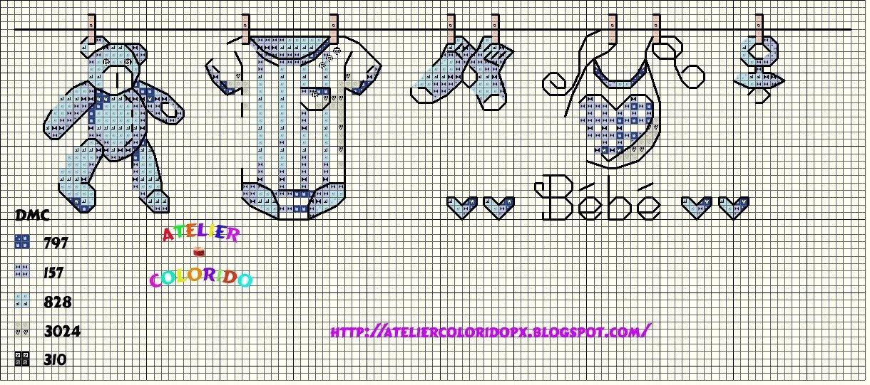 Метрик для мальчика схема вышивки