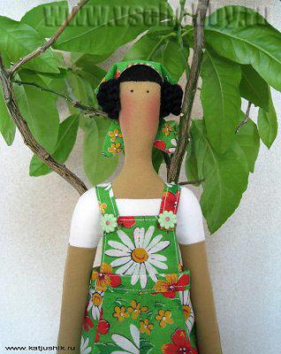 кукла Тильда садовница сшить своими руками мастер-класс