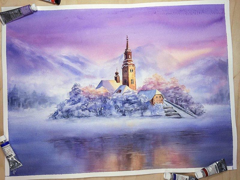 Акварельный календарь на 2018 год от российской художницы