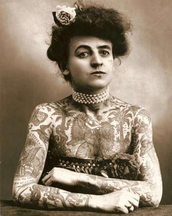 Мод Вагнер (Maud Wagner) — первая хорошо известная женщина тату-мастер в США.