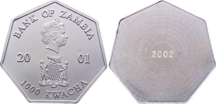 Монета-календарь из Замбии./Фото: www.numisbids.com