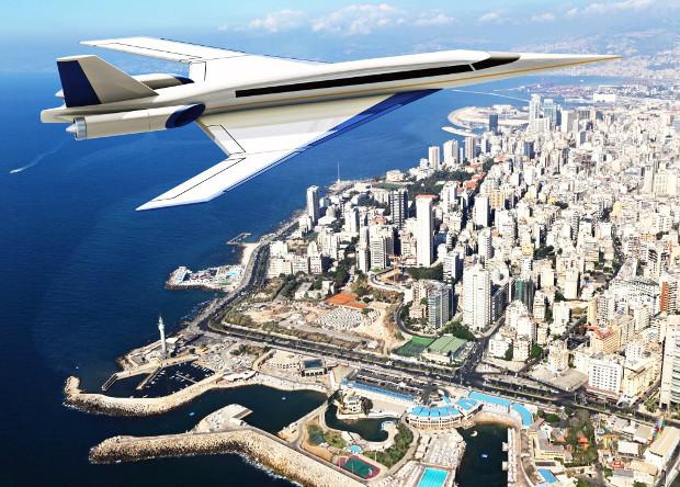 Модель сверхзвукового пассажирского самолета совершила первый полет