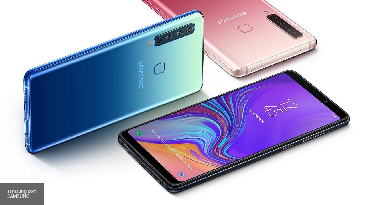 Компания Samsung презентовала смартфон с четырьмя камерами