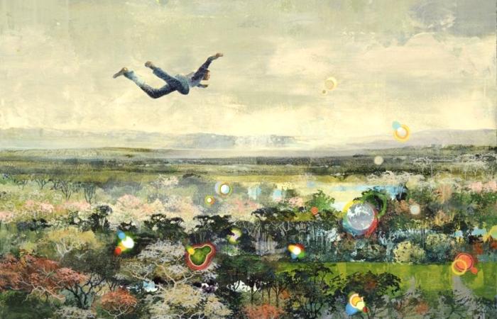 На грани вымысла и реальности: Красочные картины с фантастическими сюжетами, нарисованные мраморным порошком