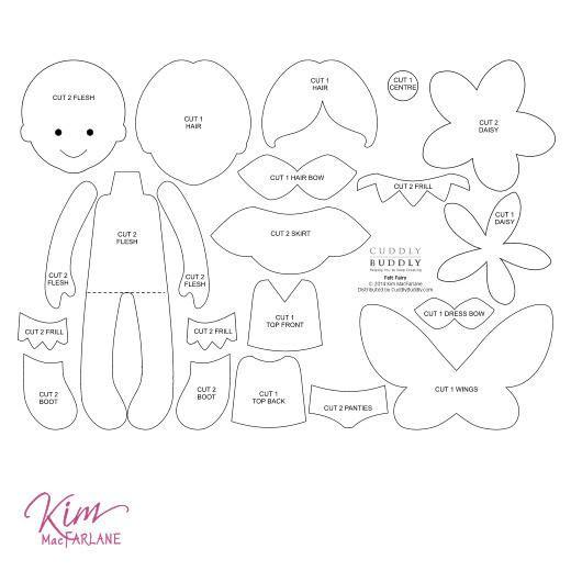 Цифровой Войлок Pattern Кима - Войлок Фея. Любовь попробовать это