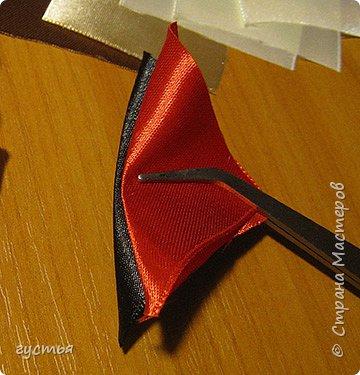 Мастер-класс Украшение Цумами Канзаши МК собачка Ленты фото 8