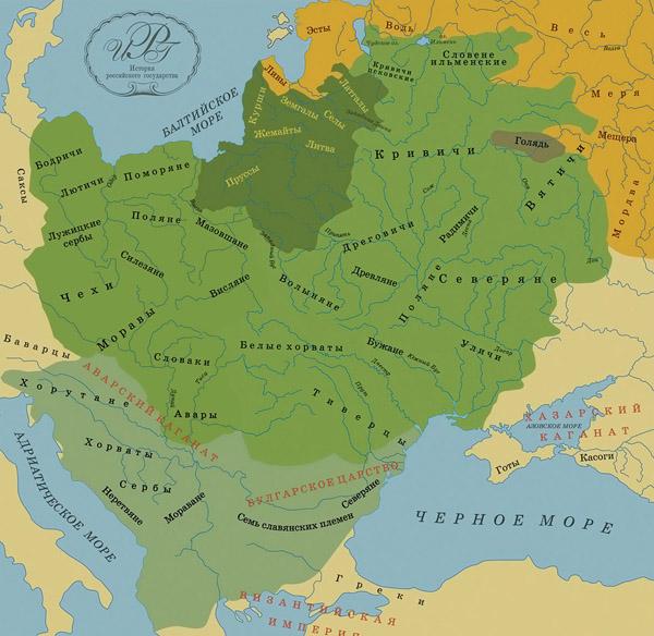 Древнеславянские племена. Са…