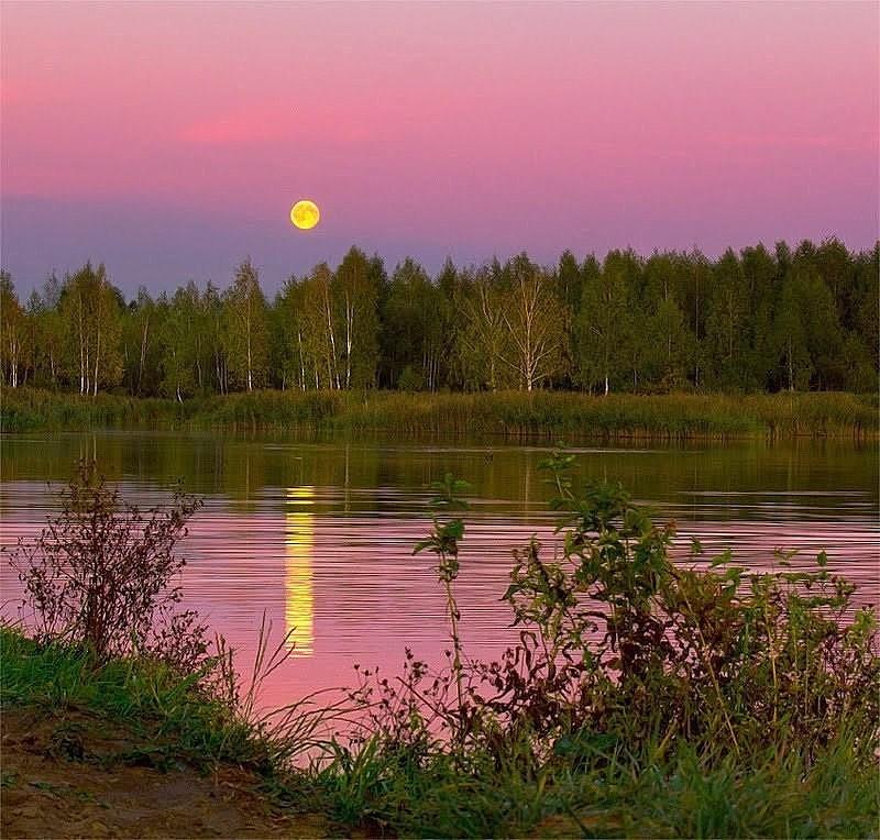 Ой, красивы на речке закаты!