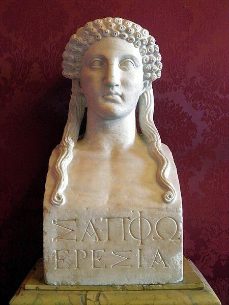 Вымышленный портрет Сапфо на более поздней древнегреческой герме.