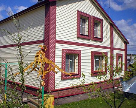 Дизайн дома снаружи сайдингом