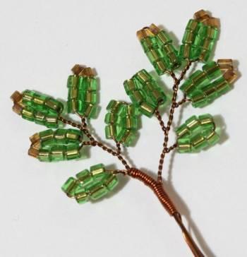 веточка ёлки из бисера своими руками для 6 яруса