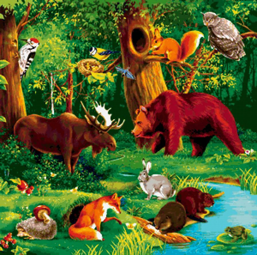 Лес полон чудес сценарий для детей