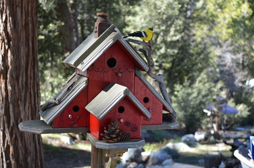 Домик для птиц сделанный своими руками 829
