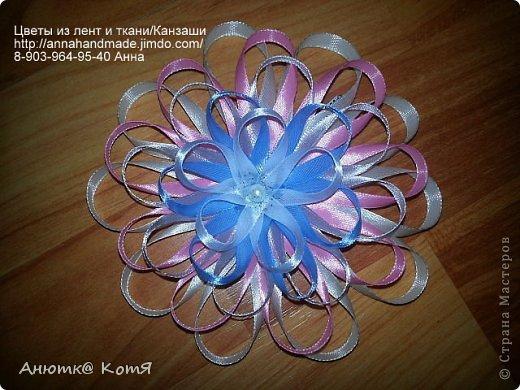 Цветы из тонкой лент своими руками мастер класс