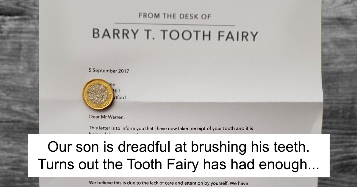Parents Tired Of Their Son Not Brushing His Teeth Come Up With This Genius Letter From The Tooth Fairy