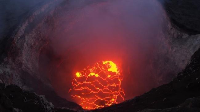 Кратер вулкана Kilauea, hawaii, ynews, гавайи, извержение вулкана, стихия