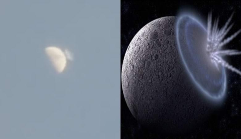 Огромный астероид упал на Луну