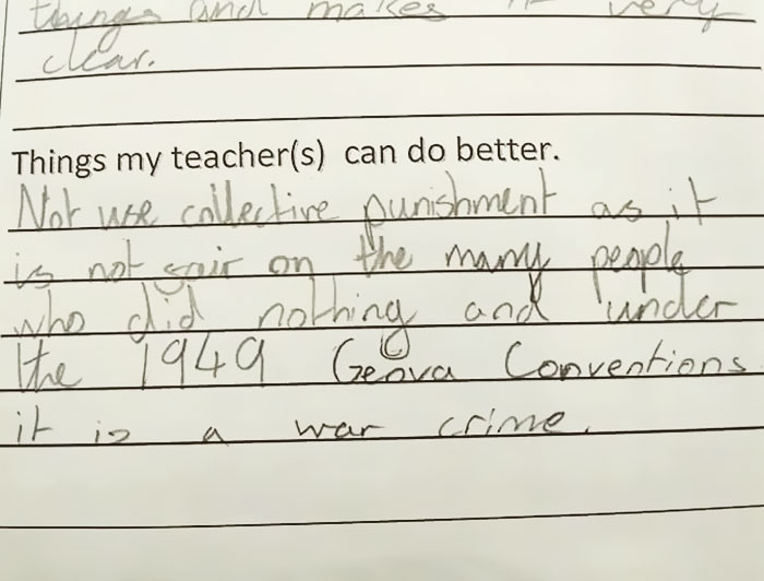 11-Year-Old Girl's Response To Teacher's Punishment Is Going Viral