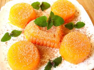 Фото к рецепту: Десерт из тыквы с апельсиновым ароматом