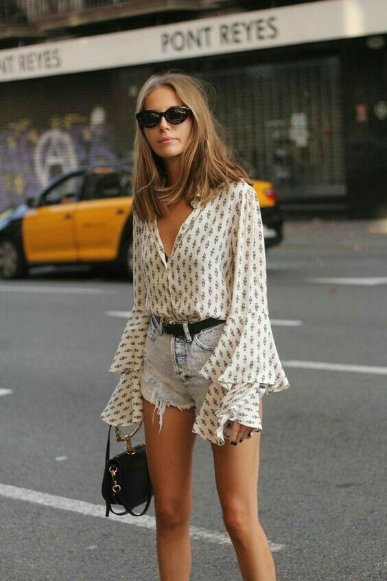 джинсовые шорты лето