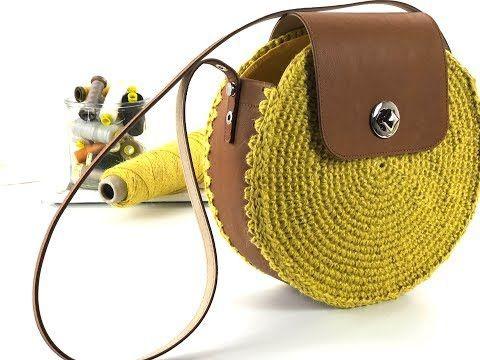 Вязаная сумочка с кожей (DIY)