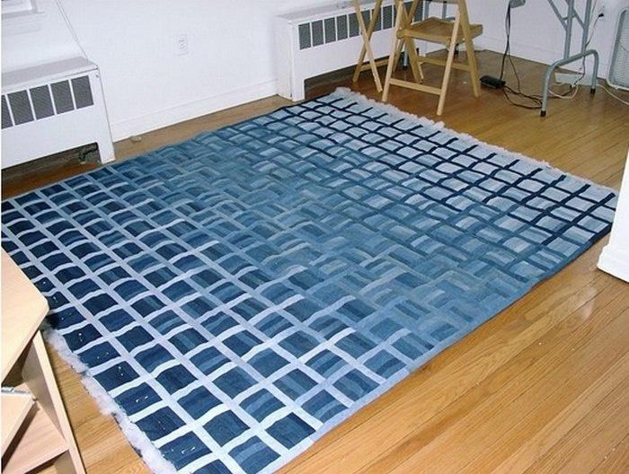 Одеяло из джинсов (в работе)