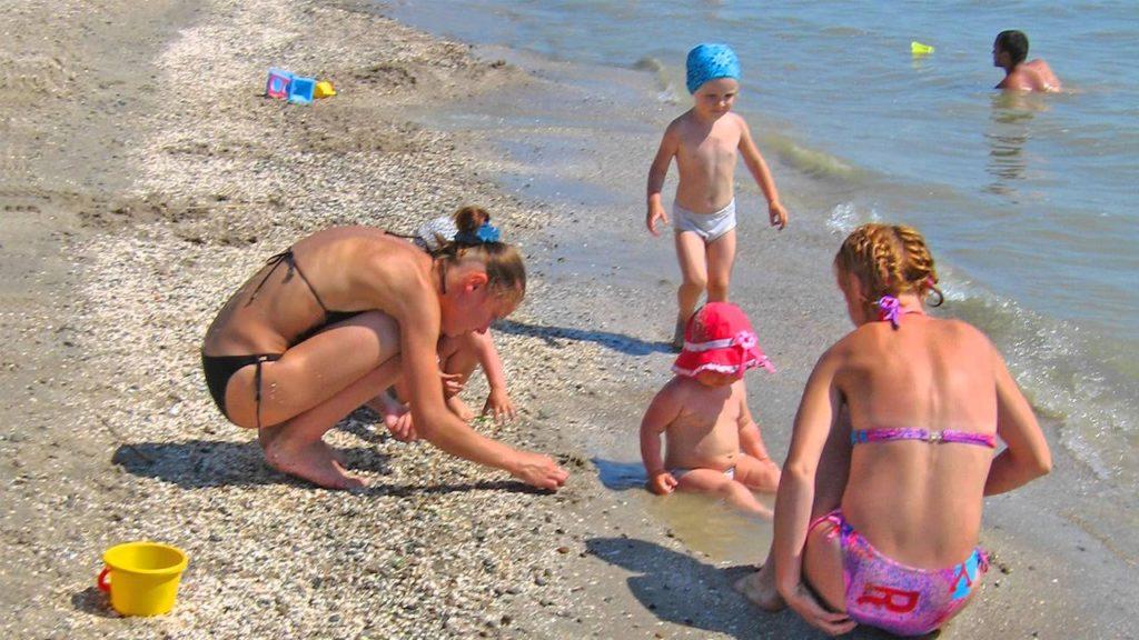 Пляжи Азовского моря для детей