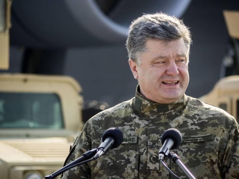 Порошенко убеждает украинцев не вставать на колени перед Путиным