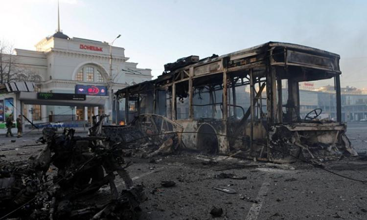 В ДНР сообщили о попадании украинского снаряда в остановку в Донецке