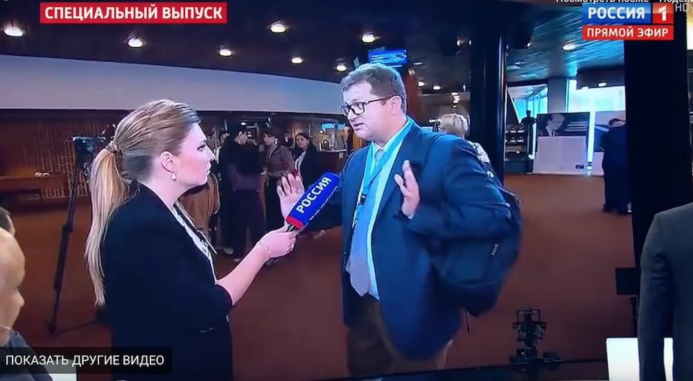 Невинный жест российской журналистки довел украинского парламентария до истерики
