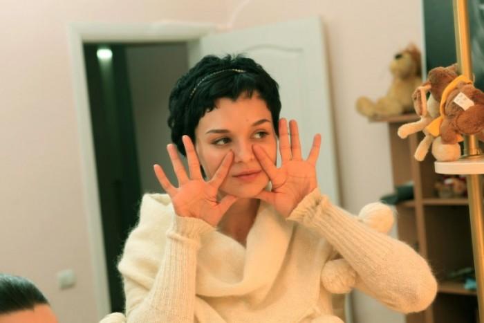 Алена Россошинская: фитнес для лица.