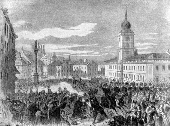 Разгон народной демонстрации в Варшаве 8 апреля 1861 года