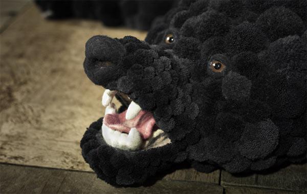 Шкура медведя из помпонов мастер класс