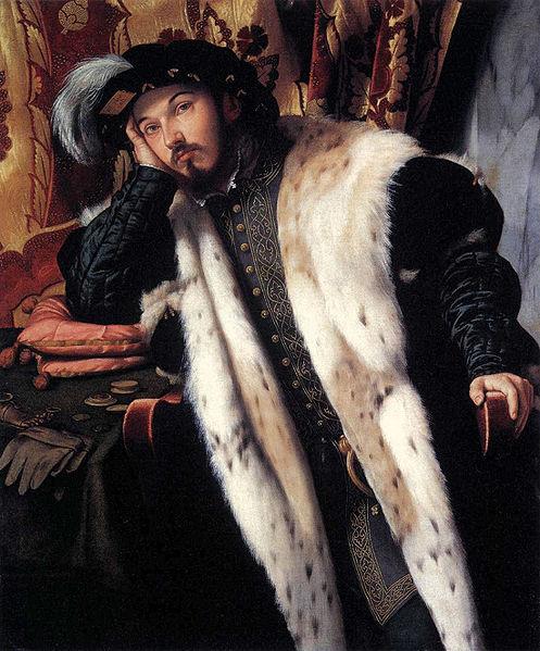 Бонвичино Алессандро (Моретто) Портрет графа Шарра Мартиненго Чезареско. Италия. Костюм высокого Возрождения