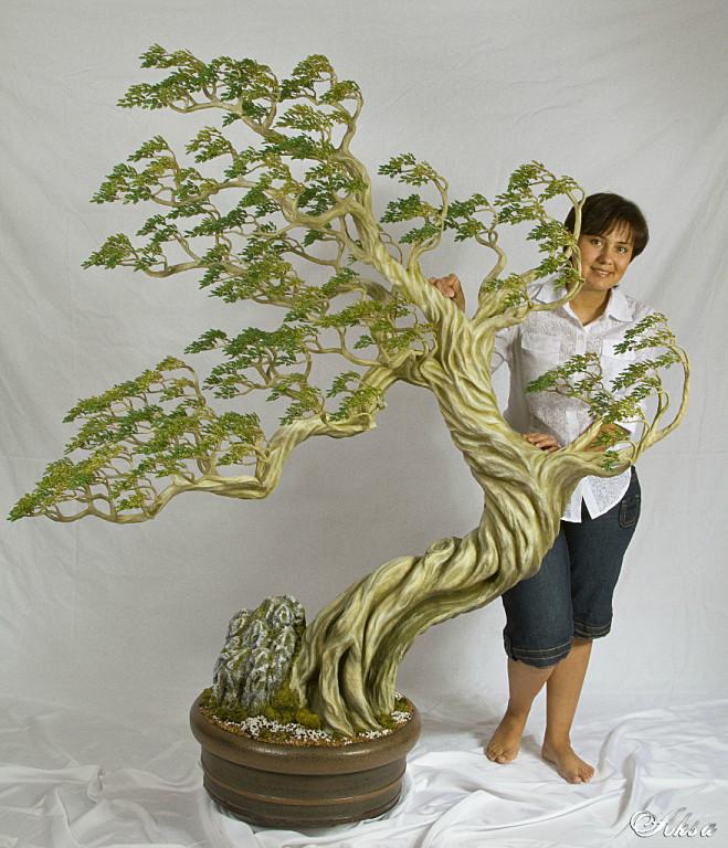 Большие искусственные деревья мастер класс