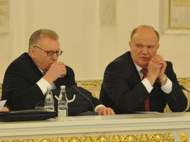 Зюганов и Жириновский догово…