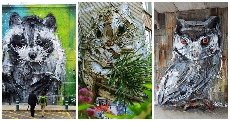 Португальский художник собирает мусор и преображает его в произведения искусства