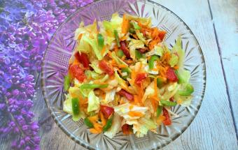 Салат с тыквой и медовым соусом