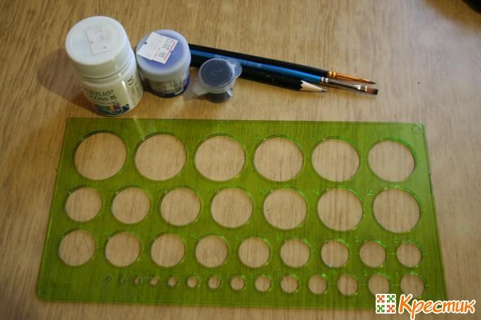 Материалы и инструменты для рисования глазок