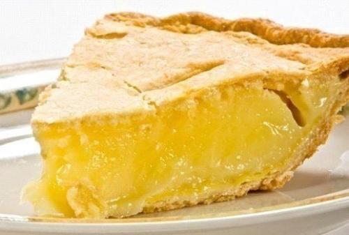 Нежный лимонный пирог.