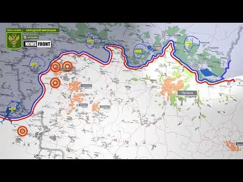 Карта обстрелов 16 февраля 2019. Обстановка на линии соприкосновения за сутки