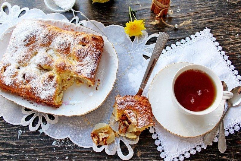 Творожный пирог с ГРУШАМИ и ОРЕХАМИ. Потрясающий, вкусный!!!