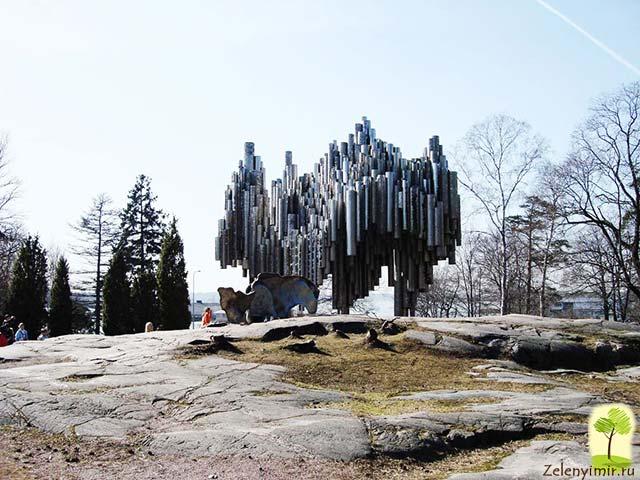 Поющий памятник Сибелиусу в Хельсинки, Финляндия - 10