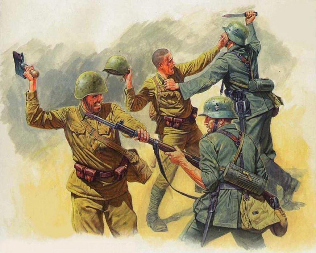 Рукопашный бой  на Великой Отечественной войне